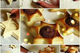 Çikolatalı yıldız milföyler