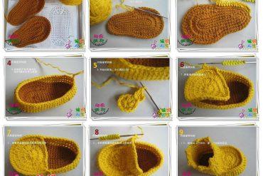 Örgüden bebek patiği yapımı