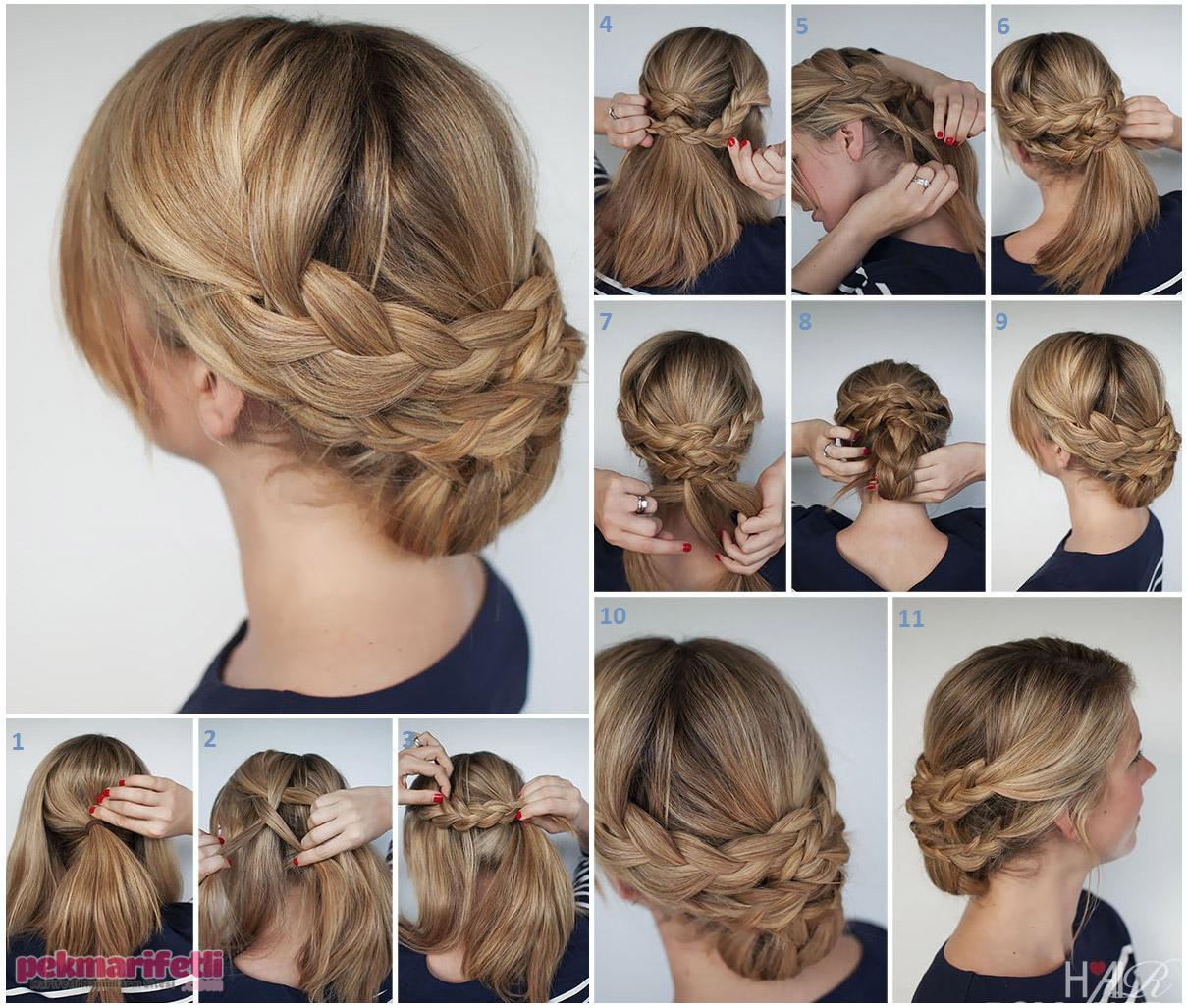 Yüksek topuz saç modeli nasıl yapılır