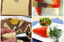 İçi peynir dolgulu havuç torpiller
