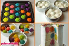 İçi rengarenk pasta nasıl yapılır?