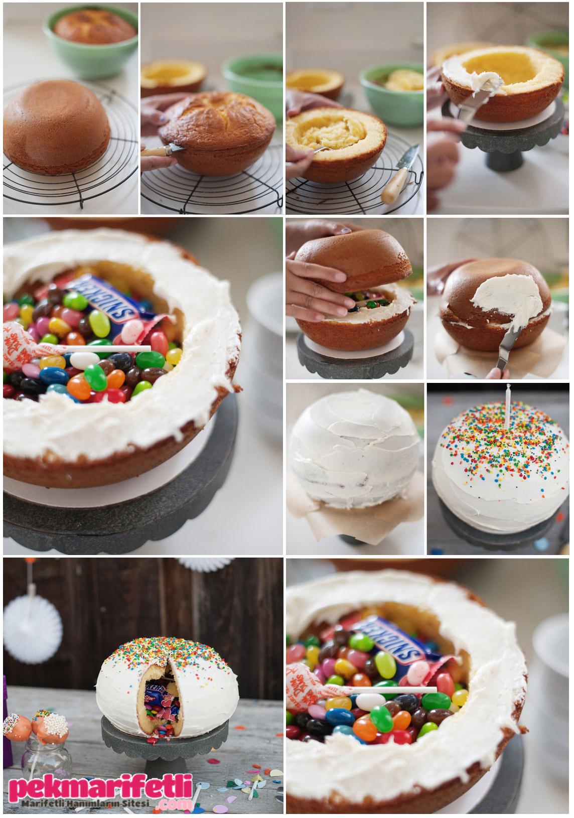 İçi süprizli çocuk pastası ;)