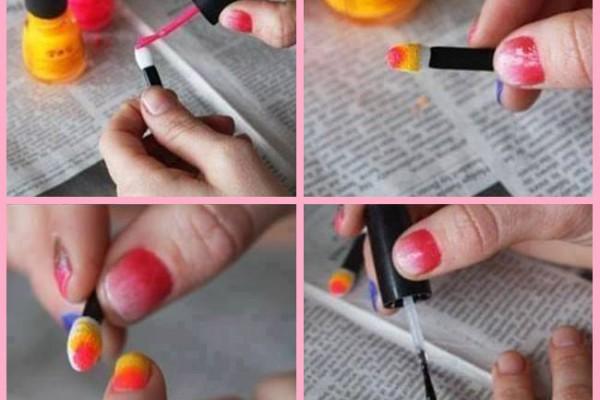 2 renkli oje nasıl yapılır?