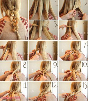 5 parçalı saç örgüsü nasıl yapılır?