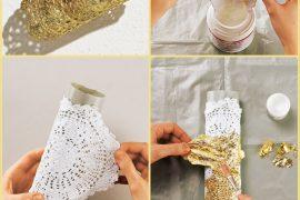 Altın renkli bileklik yapımı