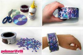 CD'den bileklik yapımı