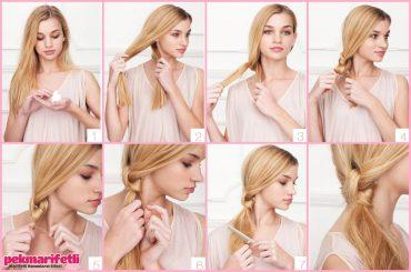 Düğümlü saç modeli yapılışı