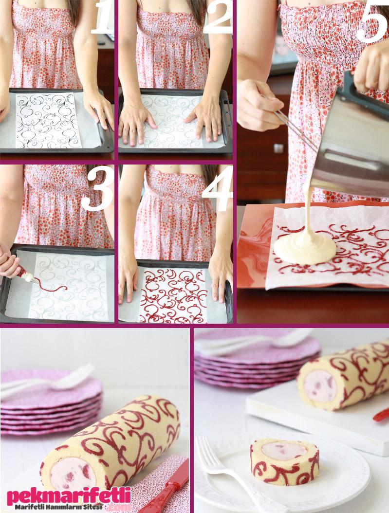 Desenli rulo pasta yapımı
