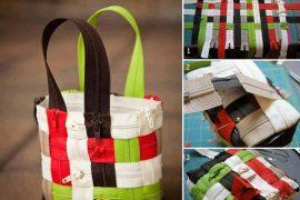 Fermuardan tasarım çanta yapımı