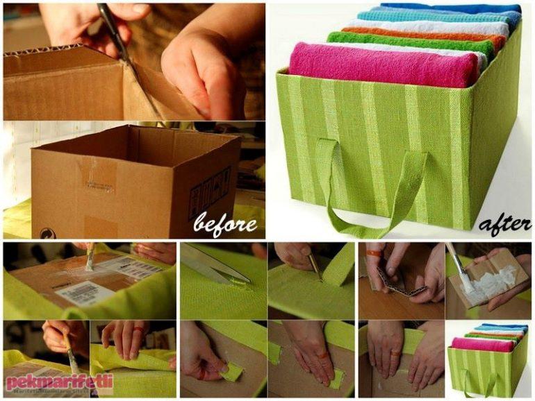 Havlularınız için harika bir kutu yapımı