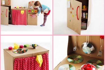 Karton kutulardan oyuncak yapımı