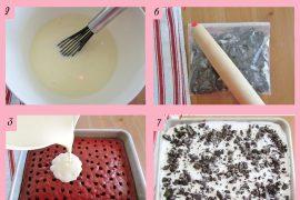 Krema dolgulu muhteşem pasta