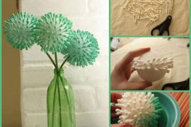 Kulak temizleme çubuğundan çiçek yapımı