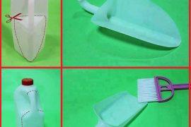 Plastik şişeden kürek yapımı