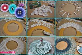 Plastik kaşıktan ayna çerçevesi yapımı