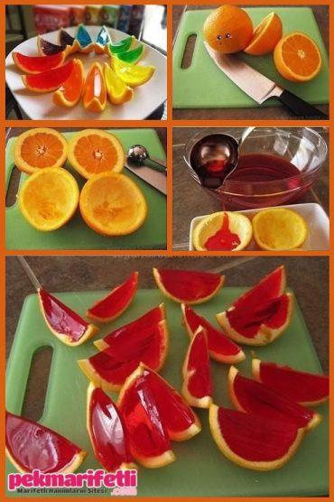 Renkli jöleli portakalcıklar :)