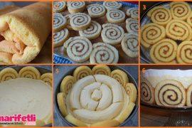 Resimli anlatımlı muzlu rulolu kek