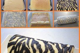 Zebra desenli rulo pasta nasıl yapılır?