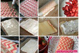Zikzak desenli rulo pasta yapımı