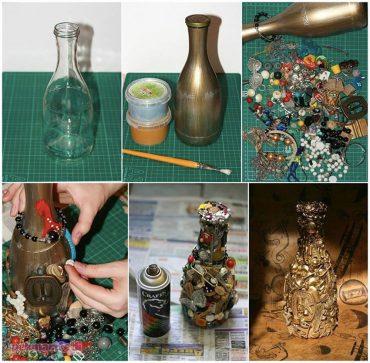 Artık malzemelerden dekoratif vazo yapımı