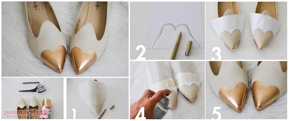 Ayakkabı aşıklarına, kalpli ayakkabı :)