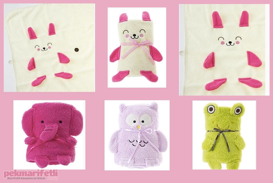 Bebeğiniz için battaniyeye dönüşen oyuncak :)