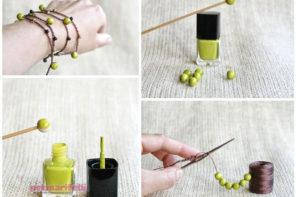 Bileklik yapmak için boncuk nasıl boyanır?