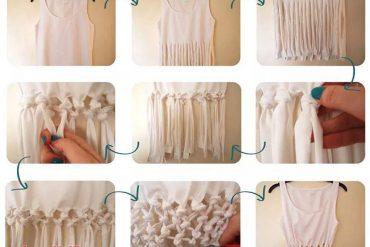 Birkaç düğümle tişörtünüzü baştan yaratın