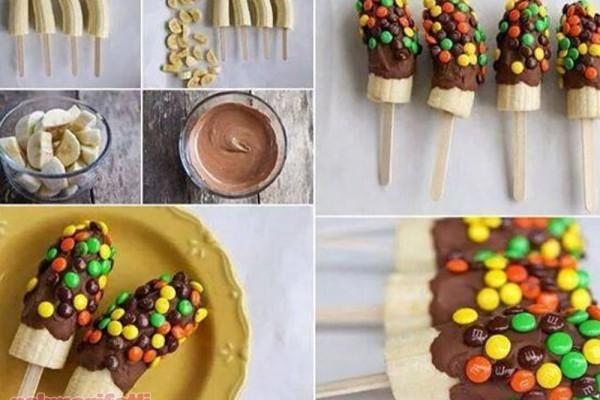 Bonibonlu çikolatalı muz yapımı