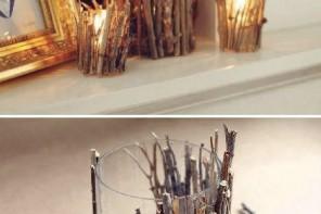 Çalılardan dekoratif mumluk yapımı