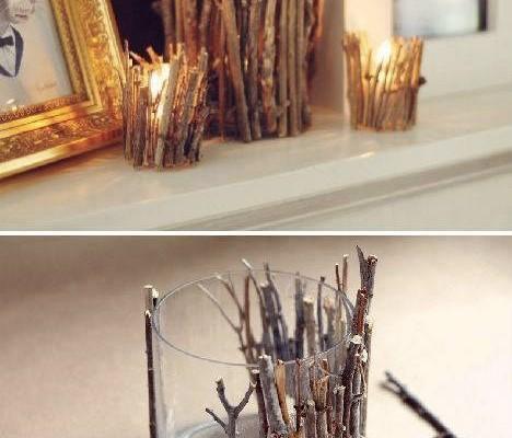 Çalılardan dekoratif mumluk yapımıÇalılardan dekoratif mumluk yapımı