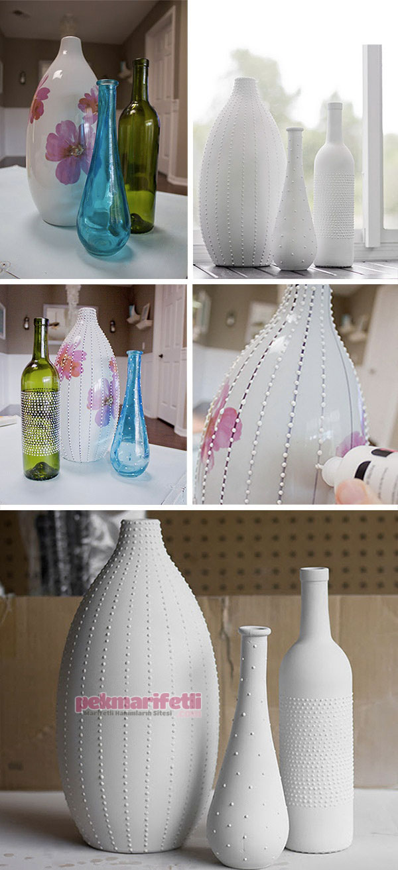 Eski şişeden dekoratif lamba yapımı