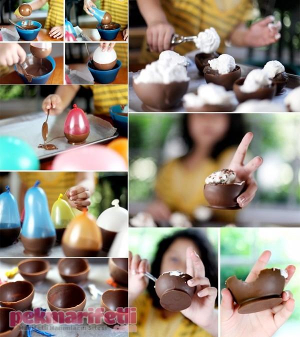Çikolatadan kase nasıl yapılır?