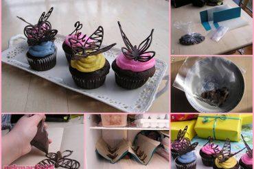 Çikolatadan kelebek yapımı