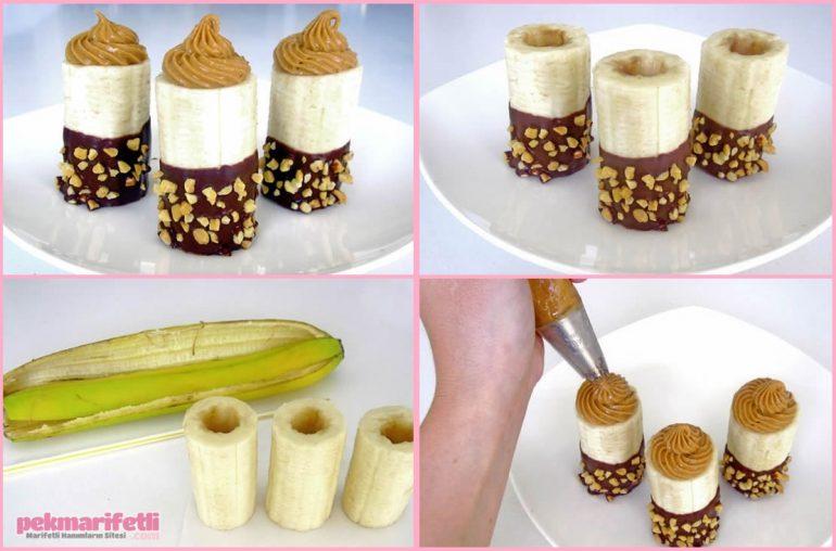 Çikolatalı pratik muz tatlısı