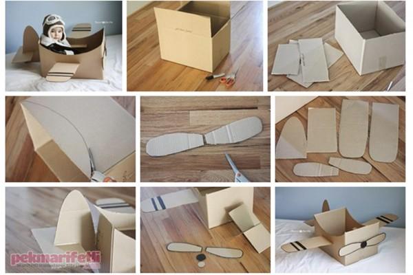 Çocuğunuz için kartondan uçak yapımı