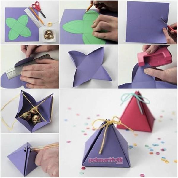 Çocuklar için farklı bayram şekeri kutusu hazırlama