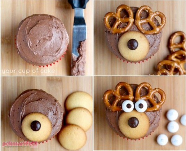 Çocuklar için sevimli cupcake yapımı