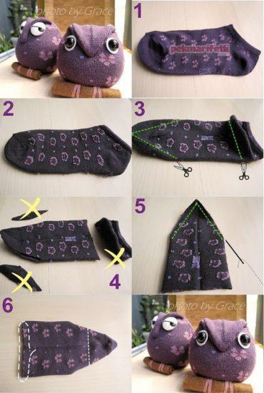 Çoraptan oyuncak baykuş nasıl yapılır?