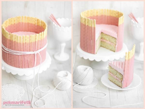 Çubuk krakerli pasta yapımı