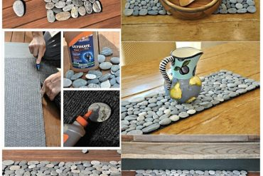 Deniz taşlarından paspas yapımı