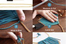 Deri kolye yapımı