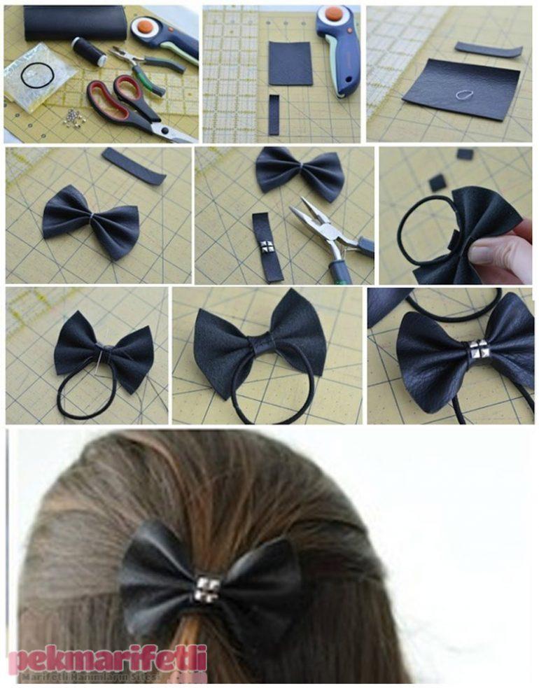 Deriden fiyonk saç tokası yapımı