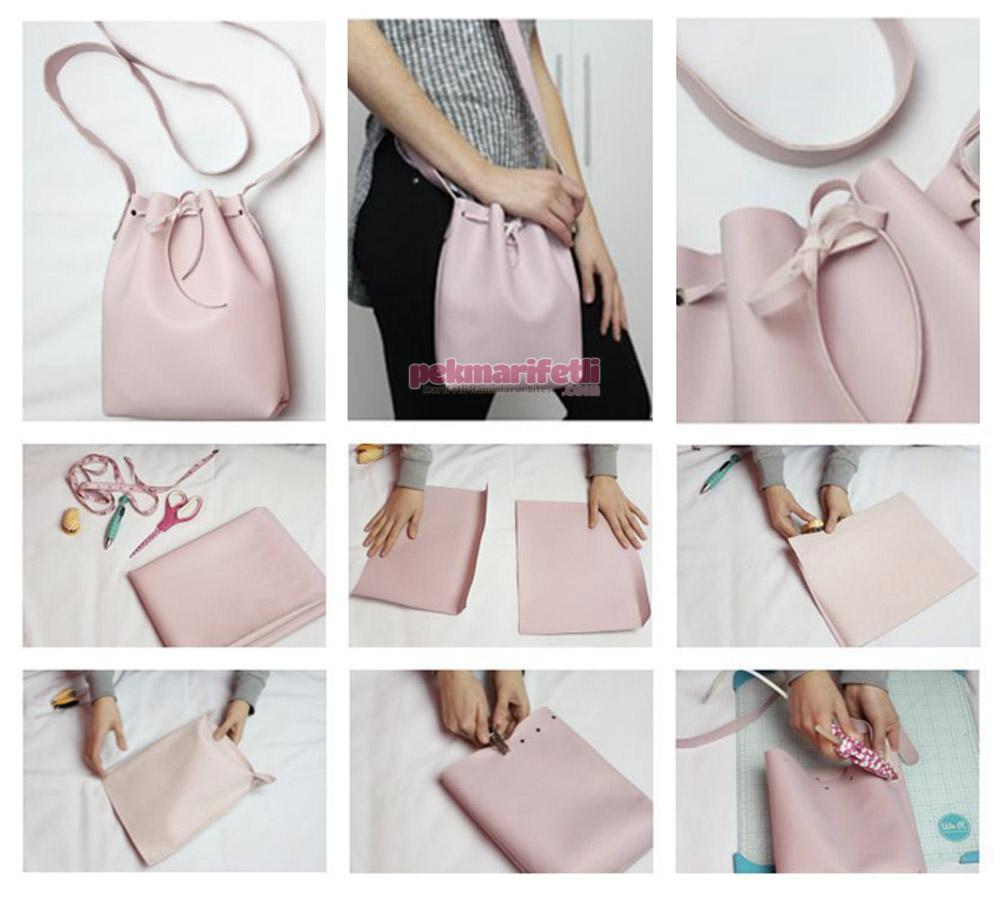 Deriden kolay çanta nasıl yapılır?