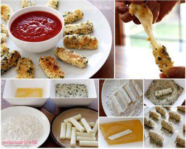 Dışı çıtır soslu peynir yapımı