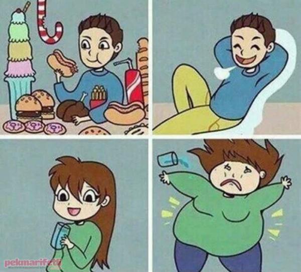 Erkek ve kadın metabolizması farkı :)