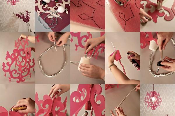 Evde dekoratif avize nasıl yapılır?