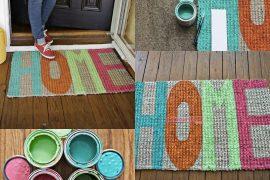 Evde dekoratif kapı önü paspası yapımı