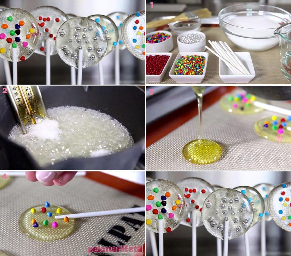 Evde süslü şeker yapımı