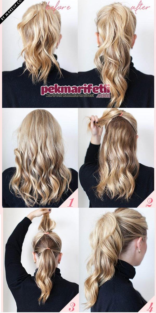 Atkuyruğu saç modelini bir de böyle deneyin :)